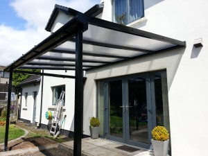 Black finish patio cover